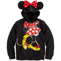 Disney Minnie Mouse Ear Hoodie for Girls   Disney Store