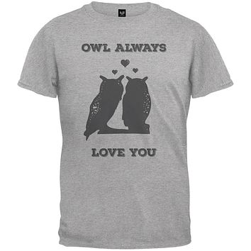 Valentine's Day - Paws - Owl Always Love You Heather Youth T-Shirt