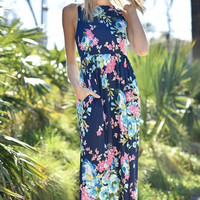 Kozmic Blues Floral Maxi