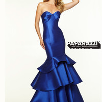 Sweetheart Tiered Mermaid Paparazzi Prom Dress By Mori Lee 97100