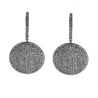 7 7/8ct tw Diamond Fashion Earrings in Sterling SIlver with Black Rhodium - Diamond Earrings - Jewelry & Gifts