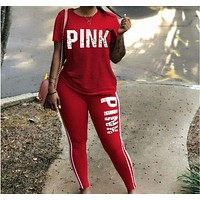 Victoria's Secret Fashion Hipster Pink Print Trendy Set