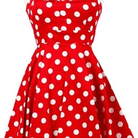 Polka Dot Pinup Dress in Red | Blame Betty