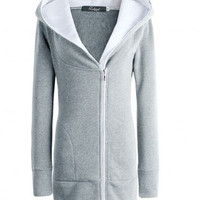 Hooded Long Sleeve Tunic Jacket