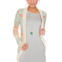 Sweet Elaine Cardigan in Mint