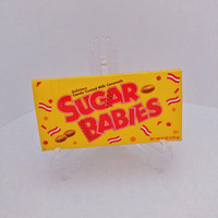 Yellow Red Women's Novelty Purse, Recycled Sugar Babies Candy Box Clutch Wallet, Ladies Cell Phone Holder, Unique White Elephant Gift