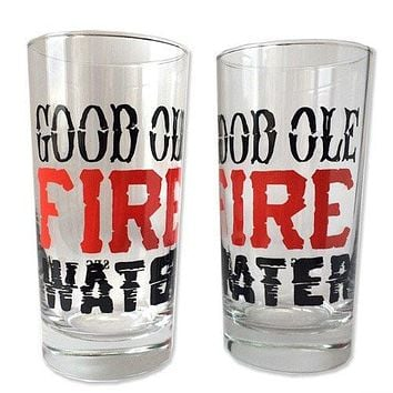 12 oz. Drinking Glasses Fire Water
