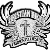 Christian Biker Embroidered iron on Patch