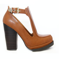 Cognac Ponder-12X Open Panel Booties