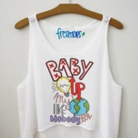 Baby you light up Crop Top