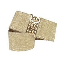 Malco Modes 2 1/2 Inch Wide Elastic Metallic Lame Fabric Stretch Cinch Belts with a Metal Clasp Clo