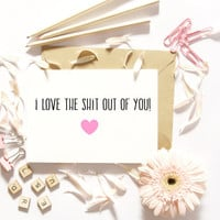 Funny Love Cards/Best Friend Card/Sarcastic Funny Cards/Anniversary/Boyfriend Card/Girlfriend Card/Funny Relationship Card