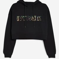 Cropped Holographic Hoodie by Ivy Park | Topshop