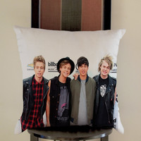 5 Second of summer meet Pillow, Pillow Case, Pillow Cover, 16 x 16 Inch One Side, 16 x 16 Inch Two Side, 18 x 18 Inch One Side, 18 x 18 Inch Two Side, 20 x 20 Inch One Side, 20 x 20 Inch Two Side