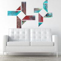 wall decals - Discovered in New Mexico Faux Wood