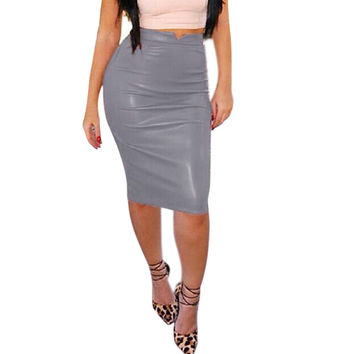 High Waist Slim Hip Pencil Skirt