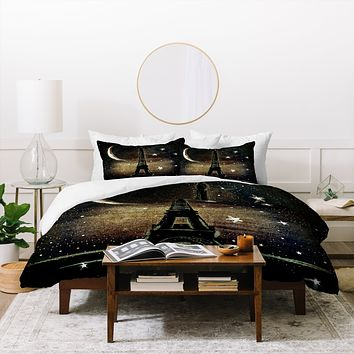 Deniz Ercelebi Paris Midnight Duvet Cover