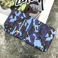 Champion New fashion letter print couple camouflage protective case phone case