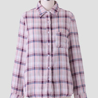 Lucky Day Plaid Button-Up