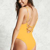 Plunging Caged Back One-Piece
