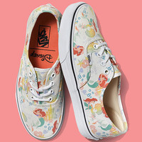 Vans Old School Disney Mermaid Canvas Print Flats Sneakers Sport Shoes