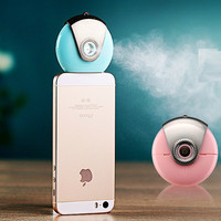 Portable Creative USB Mini Ultrasonic Humidifier For iPhone & Andrews Aroma Diffuser Aromatherapy Mist Maker Fogger Hot BLUE