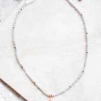 Teardop Stone Choker, Grey