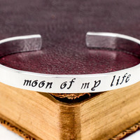 Moon of My Life - Game of Thrones - Heart and Moon - Aluminum Bracelet