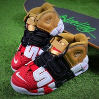 Supreme x Nike Air More Uptempo Tri Retro Baskerball Shoes 902290-002 - Best Online Sale