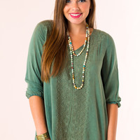 Peabody Top in Green