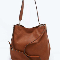 Deena & Ozzy Side Zip Tote Bag in Tan - Urban Outfitters