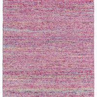 Rex Solids and Borders Area Rug Pink