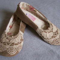 Women Slippers with butterflies by PinkyRoo on Etsy