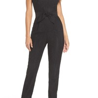 Harlyn Scallop Trim Lace Jumpsuit | Nordstrom