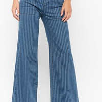 Pinstriped Flare Pants