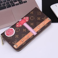 Louis Vuitton Wallet Gift Box Type Printing Women Men Wallet LV Zipper Bag B-OM-NBPF LV Printting