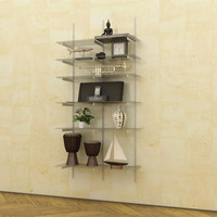 WAL Support Hardware Only 2-Bay Standards and Brackets for Glass Shelves
