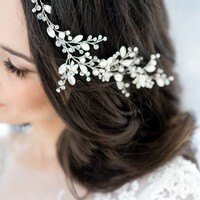 Crystal Decorated Wedding Bridal Headband