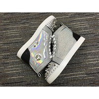Christian Louboutin Cl No Limit Silver Sneaker