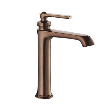 DAX-9809A-ORB / DAX SINGLE HANDLE BATHROOM VESSEL SINK FAUCET, BRASS BODY, OIL RUBBED BRONZE FINISH, SPOUT HEIGHT 7-1/16 INCHES