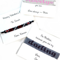 Personalized Beaded Friendship Bracelet with Your Message