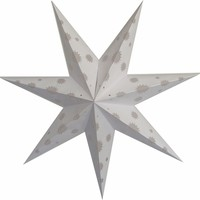 "BLOWOUT 24"" 7 POINT WHITE PAPER STAR LANTERN, HANGING (LIGHT NOT INCLUDED)"