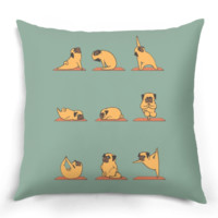 Pug Yoga Pillow