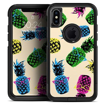 Tropical Cool Retro Pineapples - Skin Kit for the iPhone OtterBox Cases