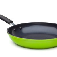 "12"" Green Earth Frying Pan by Ozeri, with Textured Ceramic Non-Stick Coating from Germany (100% PTFE, PFOA and APEO Free)"