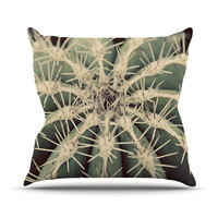 "Angie Turner ""Cactus"" Plant Outdoor Throw Pillow"