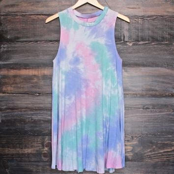 to dye for t shirt tank dress - purple tie dye