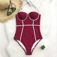 Sweet Date Halter One-piece Swimsuit