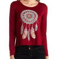 Rhinestone Dreamcatcher High-Low Tee by Charlotte Russe