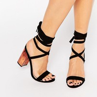 ASOS | ASOS HANDFUL Lace Up Heeled Sandals at ASOS